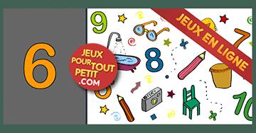 Jeux gratuit en ligne pour tout petits: À rechercher!  Les numéros  6,7,8,9,10 et les  objets. Mamans en ligne.