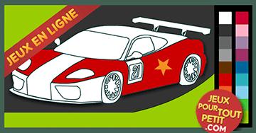 jeux de coloriage en ligne pour garon peindre voiture de courses les petits jouent. Black Bedroom Furniture Sets. Home Design Ideas