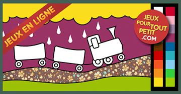 Jeux de coloriage en ligne pour petit peindre le train for Peinture en ligne