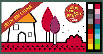coloriage en ligne gratuit pour enfant peindre une maison - Coloriage En Ligne Gratuit