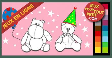 Jeux de coloriage en ligne pour fille: Peindre anniversaire!