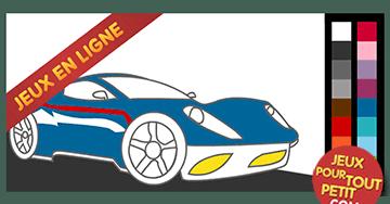 Jeux de coloriage en ligne pour garcon: Peindre automobile moderne!
