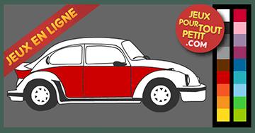 Jeux de coloriage en ligne pour garcon: Peindre voiture VW coccinelle!