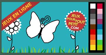Jeux de coloriage en ligne pour petit: Peindre papillons!