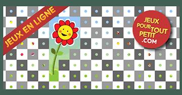 Les enfants jouent, accompagnés par les mamans et les papás. Jeux pour tout petits: Fleurs et abeilles.