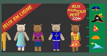 Jeux en ligne pour les tout petits. Fête des costumes! Vous trouverez des dizaines de jeux pour tablette et pour mobile gratuits