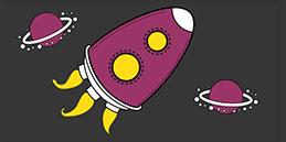 Dessins de Fusée pour Colorier en ligne