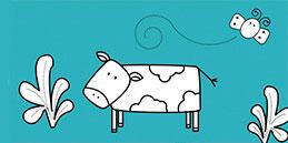 Jeux de coloriage en ligne: Vache Pour Colorier