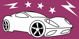 Jeux de coloriage en ligne: Peindre automobile moderne! Les petits jouent, accompagnés par les mamans et les papás.