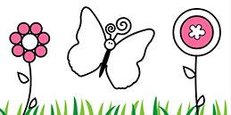 Jeux de coloriage en ligne: Peindre papillons! Les petits jouent, accompagnés par les mamans et les papás.