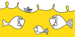 Jeux de coloriage en ligne: Peindre poissons! Les petits jouent, accompagnés par les mamans et les papás.