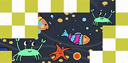 Jeux pour tout petits: Le fond de la mer! Les tout petits jouent, accompagnés par les mamans et les papás