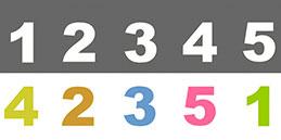 Jeux pour tout petit. Jouer avec des numéros.