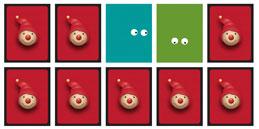 Jeux de mémoire pour tout petit: Yeux des curieux. Les enfants jouent, accompagnés par les mamans et les papás