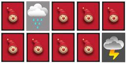 Jeux de memory pour la mémoire des enfants: Symboles Météo
