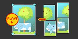 Jeux puzzle gratuit pour tout petit 3 ans: La Vache