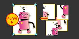 Jeux puzzle gratuit pour tout petit 3 ans: Le Robot