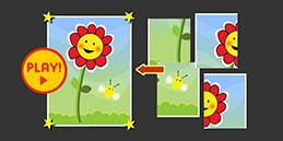 Jeux de Puzzle en ligne pour enfants 4 ans: La Fleur