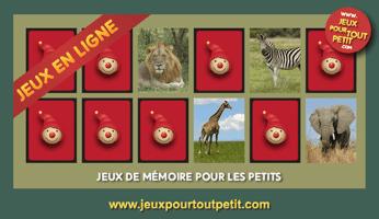 jeux de m moire en ligne pour enfants les animaux de la jungle mamans en ligne. Black Bedroom Furniture Sets. Home Design Ideas