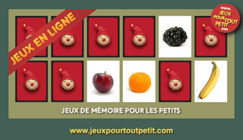 jeux de memory pour enfants partir de 3 ans les fruits mamans en ligne. Black Bedroom Furniture Sets. Home Design Ideas