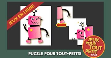 jeux puzzle gratuit pour tout petit 3 ans le robot. Black Bedroom Furniture Sets. Home Design Ideas